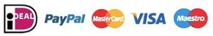 iDeal & Paypal & Mastercard & Visa & Maestro